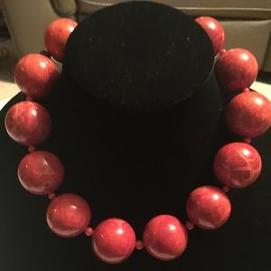 Rebecca 30MM Red Coral Necklace